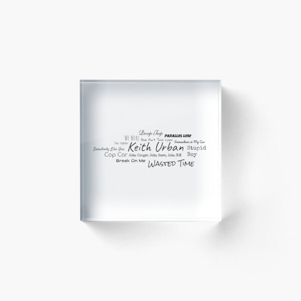 Keith Urban Acrylic Block