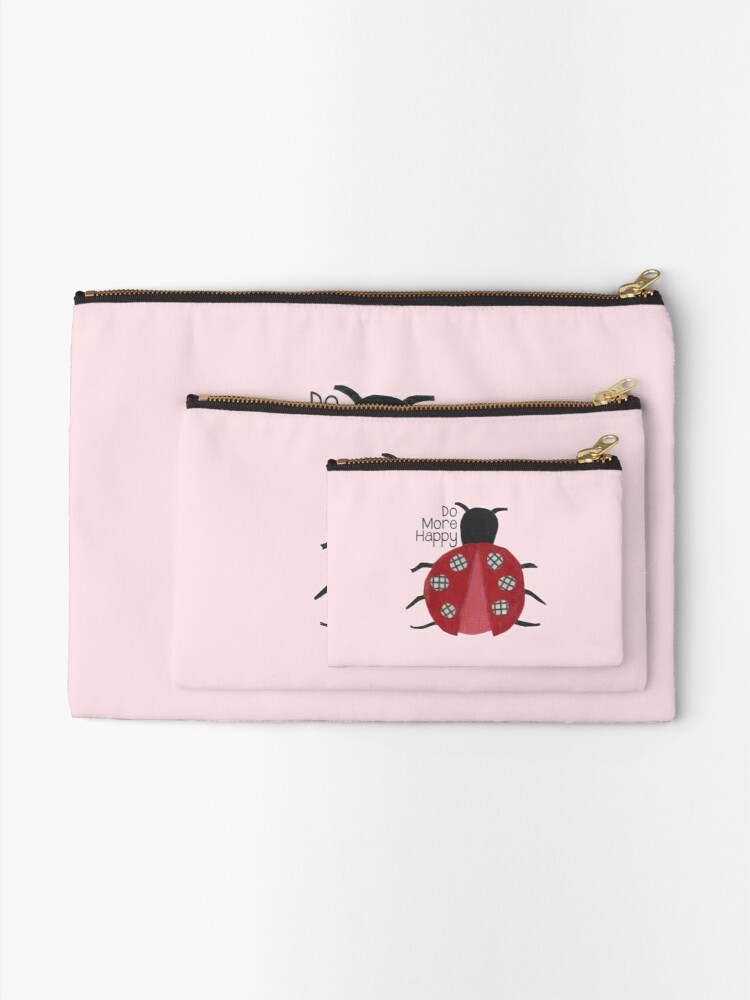 Alternate view of Do More Happy Ladybug Zipper Pouch