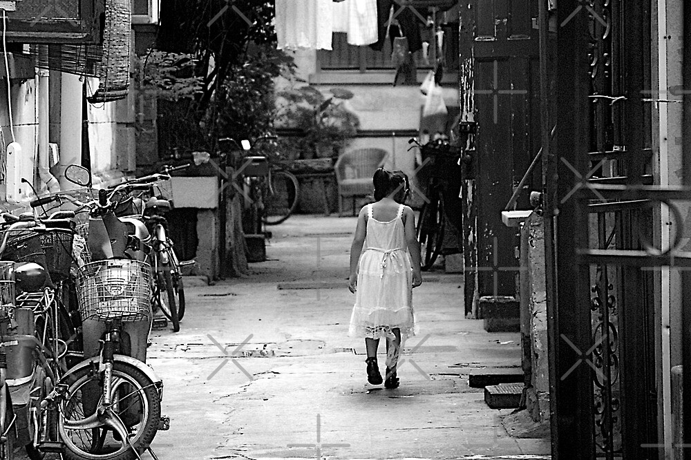 """Shanghai - girl with ripped dress by Christine """"Xine"""" Segalas"""