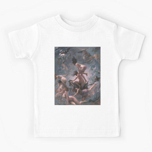 Luis Ricardo Falero - Witches going to their Sabbath (1878) Kids T-Shirt