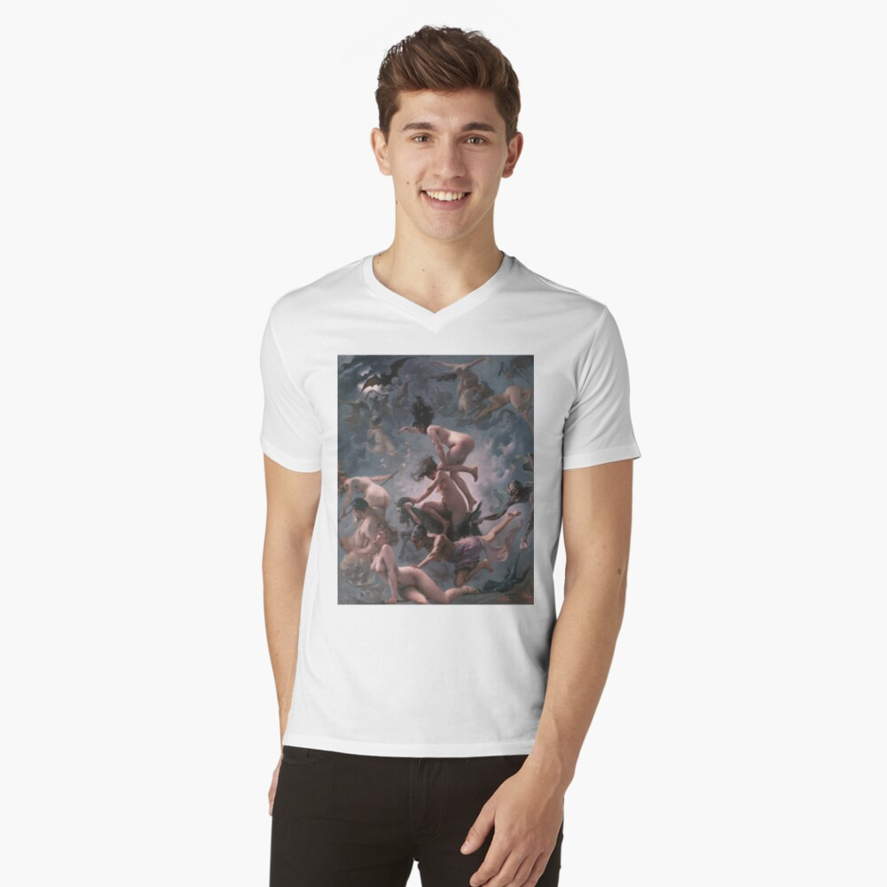 Witches Going To Their Sabbath,  ra,vneck,x1900,fafafa:ca443f4786,front-c,160,70,1000,1000-bg,f8f8f8