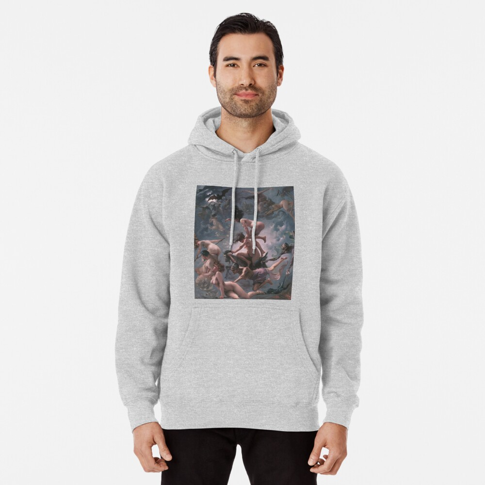 Witches Going To Their Sabbath,  ssrco,mhoodie,mens,heather_grey,front,square_three_quarter,x1000-bg,f8f8f8