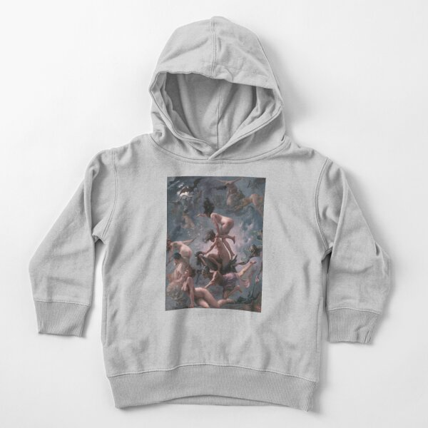 Luis Ricardo Falero - Witches going to their Sabbath (1878) Toddler Pullover Hoodie