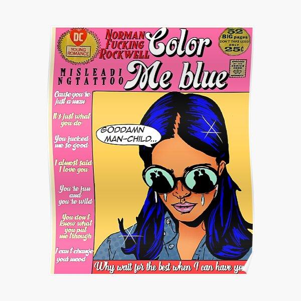 Couleur moi bleu Poster