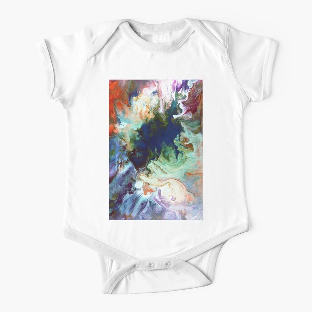 Icemelt: mountain lake painting Baby One-Piece