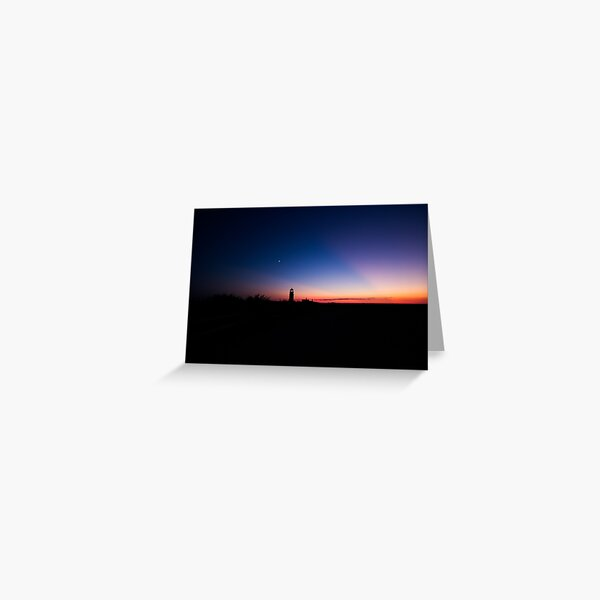 Sunset at the Highland Lighthouse Greeting Card