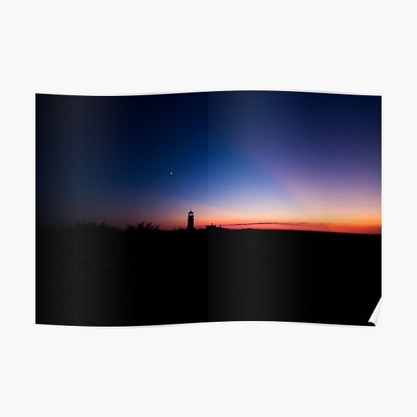 Sunset at the Highland Lighthouse Poster