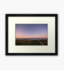 Beautiful Sunset at the Beach Framed Print