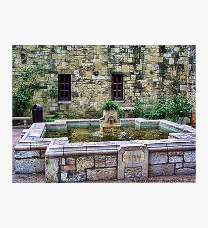 Davy Crockett Fountain - The Alamo Photographic Print