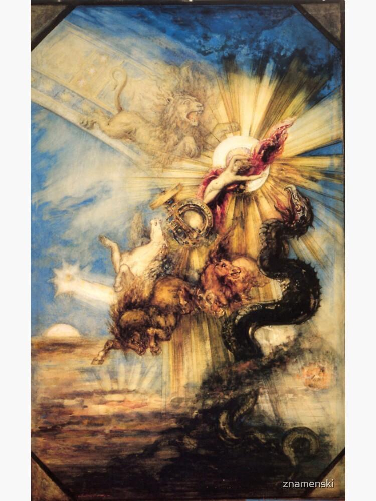 Phaethon Fall, Gustave Moreau, 1878, 99×65 cm by znamenski