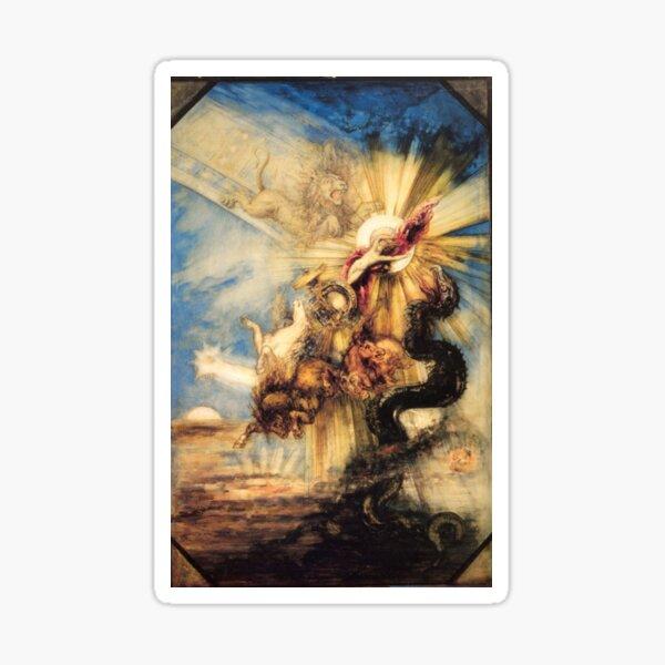 Phaethon Fall, Gustave Moreau, 1878, 99×65 cm Sticker