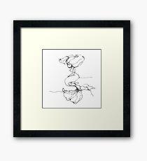 Lonely Mermaid - Scribbler Framed Print