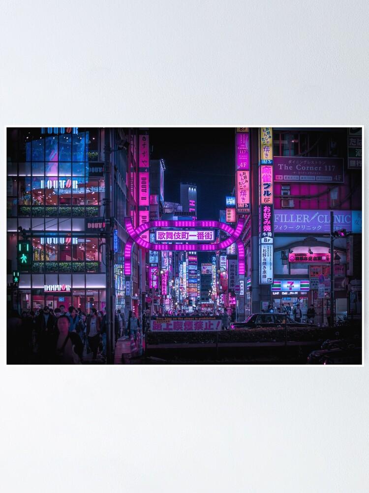 Alternate view of Kabukicho Gate, Shinjuku Poster
