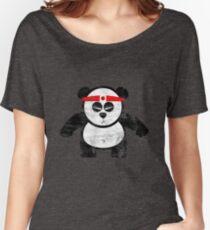 PANDA ACTION Women's Relaxed Fit T-Shirt