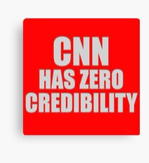 CNN HAS ZERO CREDIBILITY Canvas Print