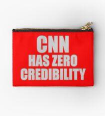 CNN HAS ZERO CREDIBILITY Zipper Pouch