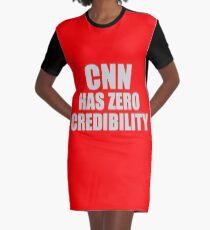CNN HAS ZERO CREDIBILITY Graphic T-Shirt Dress