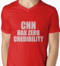 CNN HAS ZERO CREDIBILITY V-Neck T-Shirt