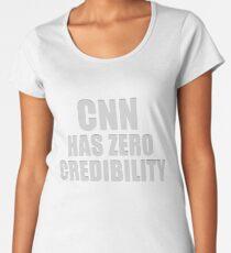 CNN HAS ZERO CREDIBILITY Premium Scoop T-Shirt