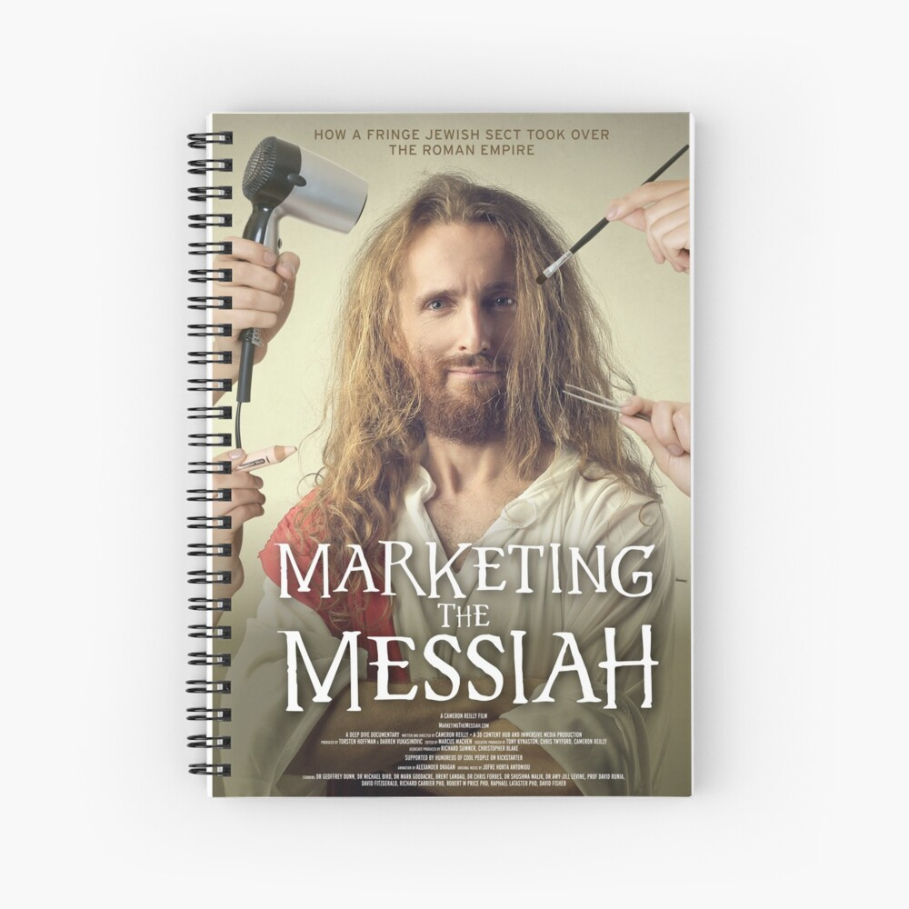 Marketing The Messiah Poster Spiral Notebook
