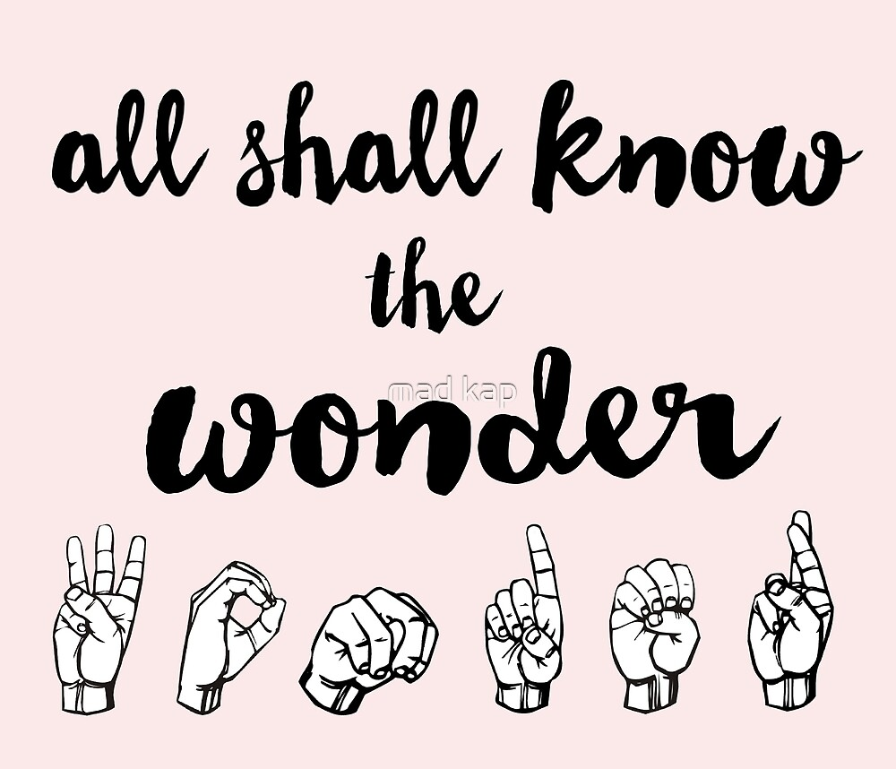All Shall Know the Wonder - The Song of Purple Summer - Spring Awakening by mad kap
