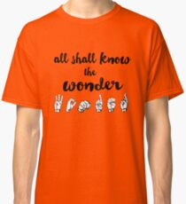 All Shall Know the Wonder - The Song of Purple Summer - Spring Awakening Classic T-Shirt