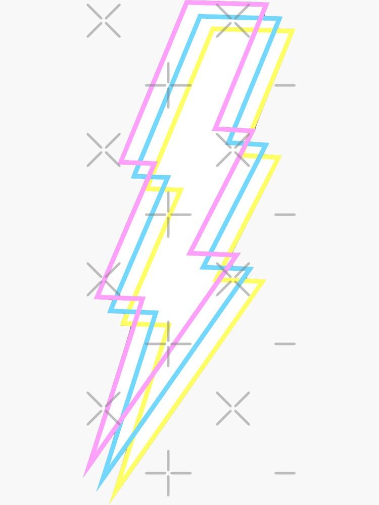 Retro Lightning Bolt  by sophiaspos