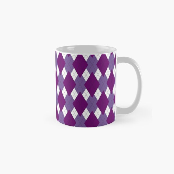 Purple Argyle Classic Mug