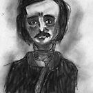 Edgar Allan Poe by Monsterkidd
