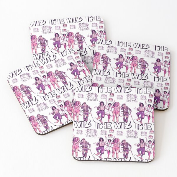 Retro Wiz Coasters (Set of 4)