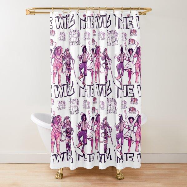 Retro Wiz Shower Curtain