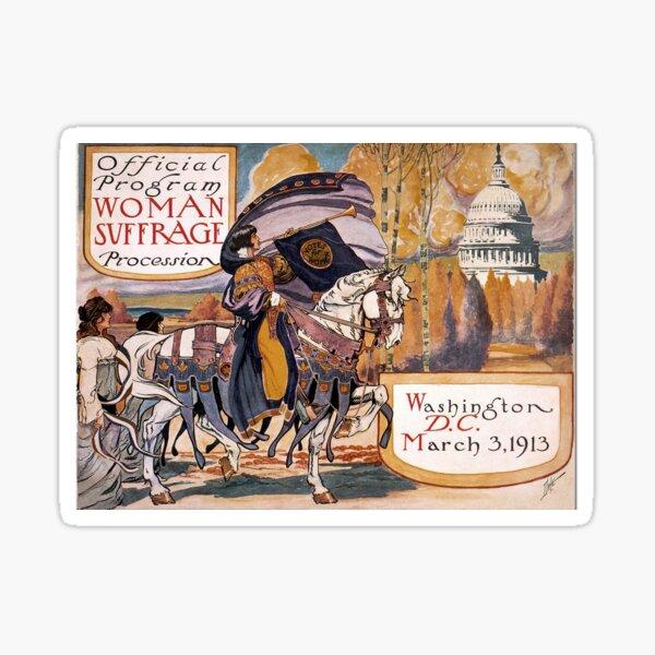 1913 Women's March On Washington 2 Sepia Toned - Votes For Women - Women's Suffrage Sticker