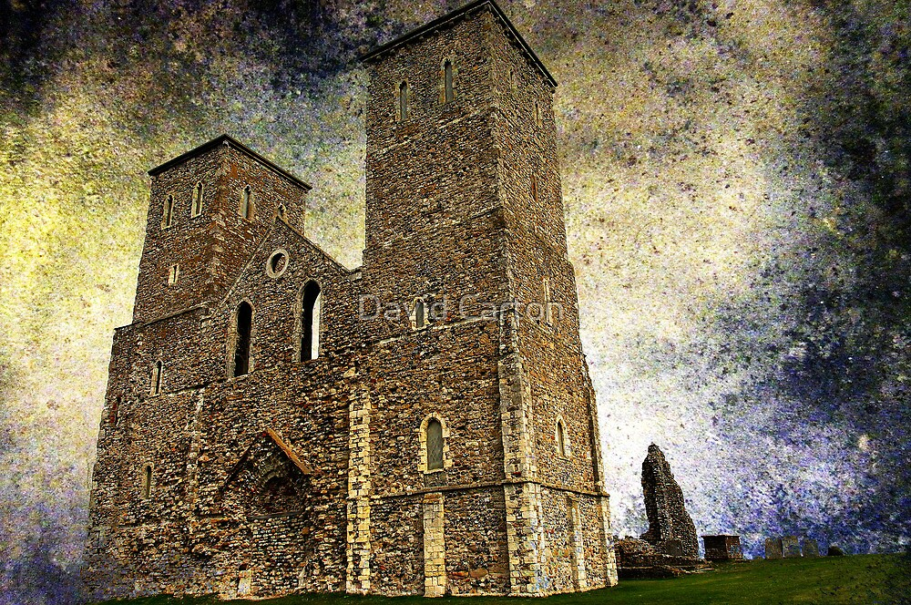 Reculver towers & Roman Fort, Kent, UK  by David Carton