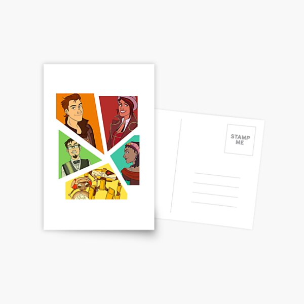 Tales From The Borderlands Squad Postcard