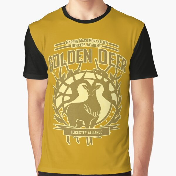 Golden Deer Graphic T-Shirt