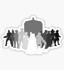 enemies of the doctor Sticker