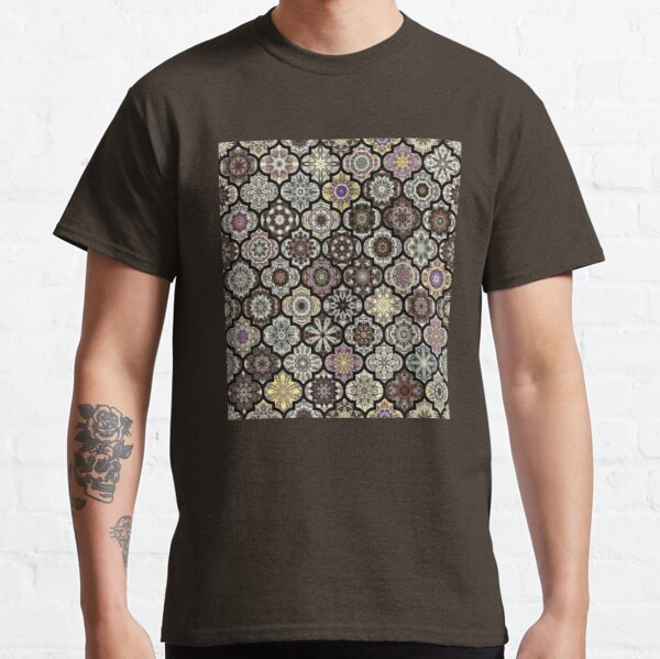 Moroccan Tile Pattern, Earthy brown Classic T-Shirt