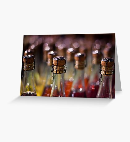 army of champagne Greeting Card