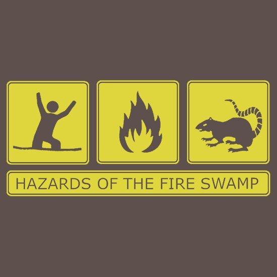 TShirtGifter presents: Hazards of the Fire Swamp