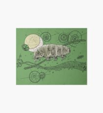 Tardigrade and Moon Doodle Art Board Print