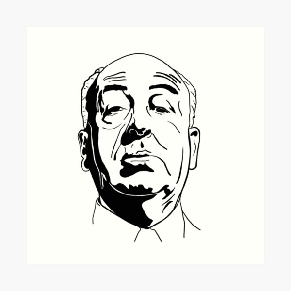 The master of suspense: Alfred Hitchcock Art Print