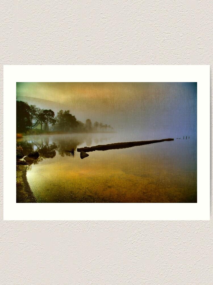 Alternate view of Misty Dawn (Textured) Art Print
