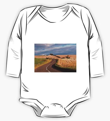 Winding Road Across the Golden Fields, Aberdeenshire, Scotland Kids Clothes