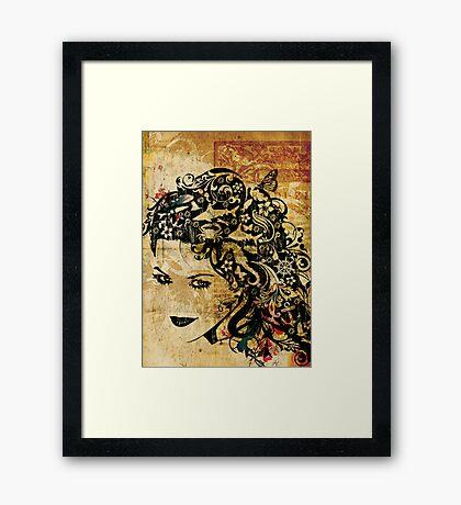 Modern Mermaid Framed Print