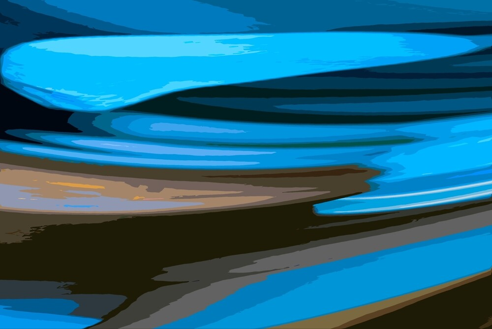 Seaside Abstract by Joy  Rector