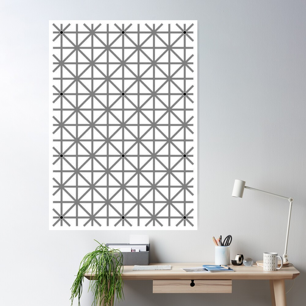 12 dot optical illusion: Poster