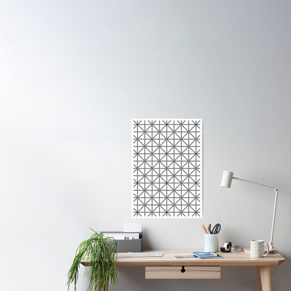12 dot optical illusion Poster