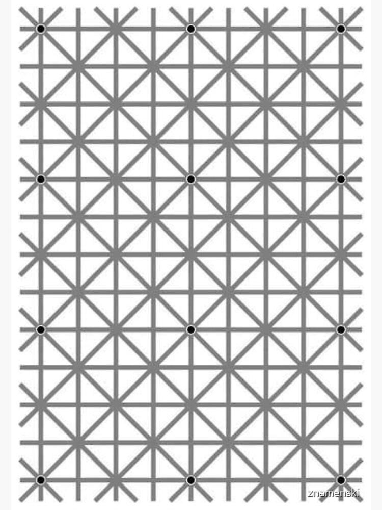 12 dot optical illusion by znamenski