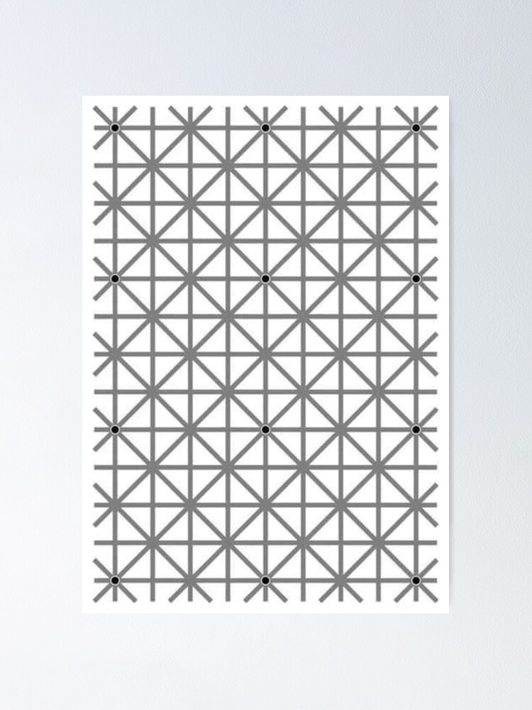 Alternate view of 12 dot optical illusion Poster