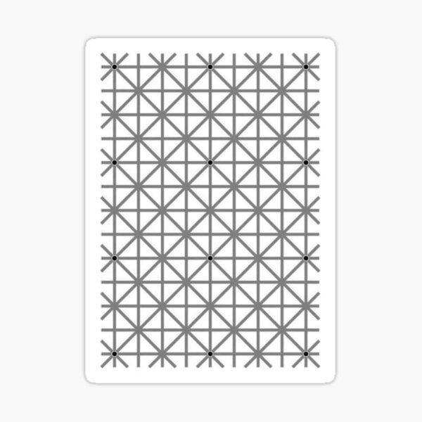 12 dot optical illusion Sticker